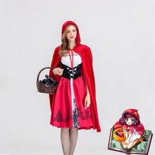 ליל כל הקדושים תלבושות עבור נשים סקסי קוספליי כיפה האדום פנטזיה משחק מדים תלבושת