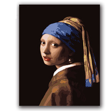 colorings paintings by numbers bout vermeer  girl with perl erring pictures pints for Hotel room wll decor