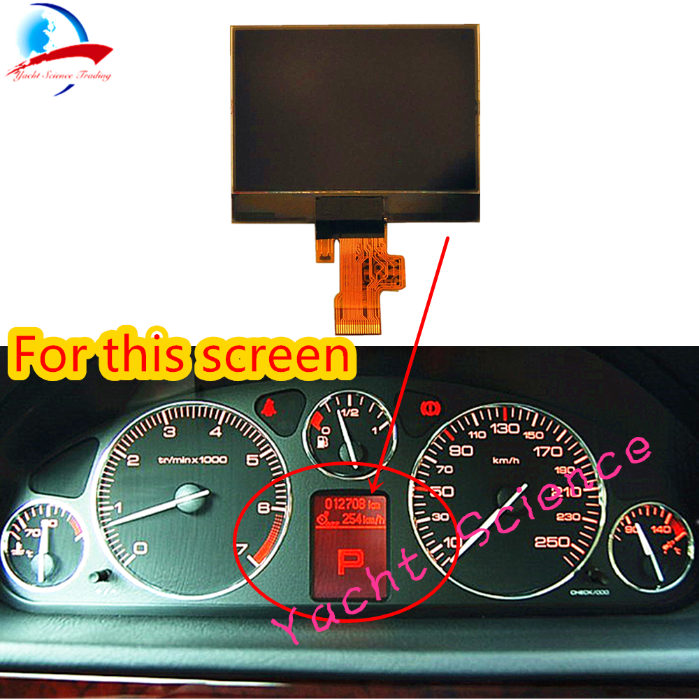 Improved Instrument Cluster Replacement Car Lcd Screen Monitor for Peugeot 407 407SW VDO Dashboard Cluster Display Panel Parts(China)