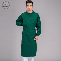 Robe medical Professional Men women cotton green surgical gowns Health care workers long sleeved Doctors Uniforms surgery