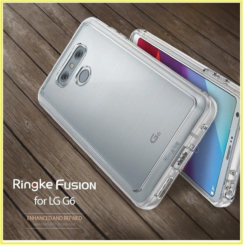 bilder für Für lg g6 fall ringke [fusion] transparent pc zurück schützende tpu abdeckung für lg g6 innerhalb 24 stunden