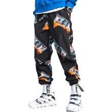 Новые модные мужские шаровары с принтом в стиле хип-хоп, Повседневная Уличная одежда, мужские джоггеры, летние модные брюки с эластичной резинкой на талии LBZ45