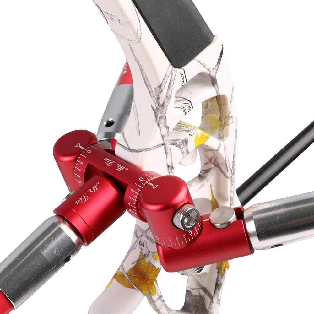 Archery Balance Rod Competition Stabilizer V bar Connector Adjustable Tactical Damping Rod Shock Absorber Damper for