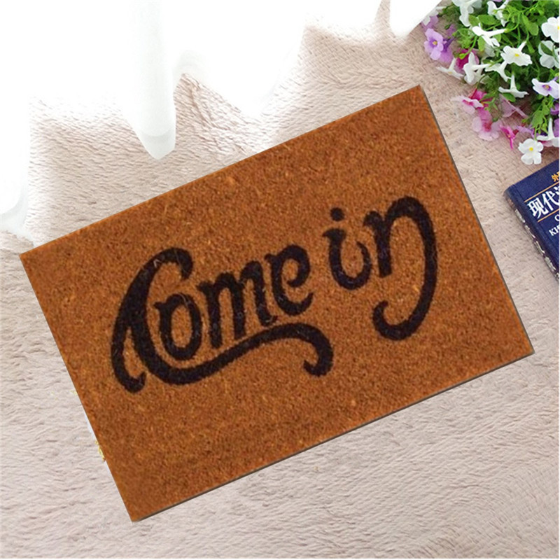1pc Welcome Go Pattern Away Doormat Funny Indoor Outdoor