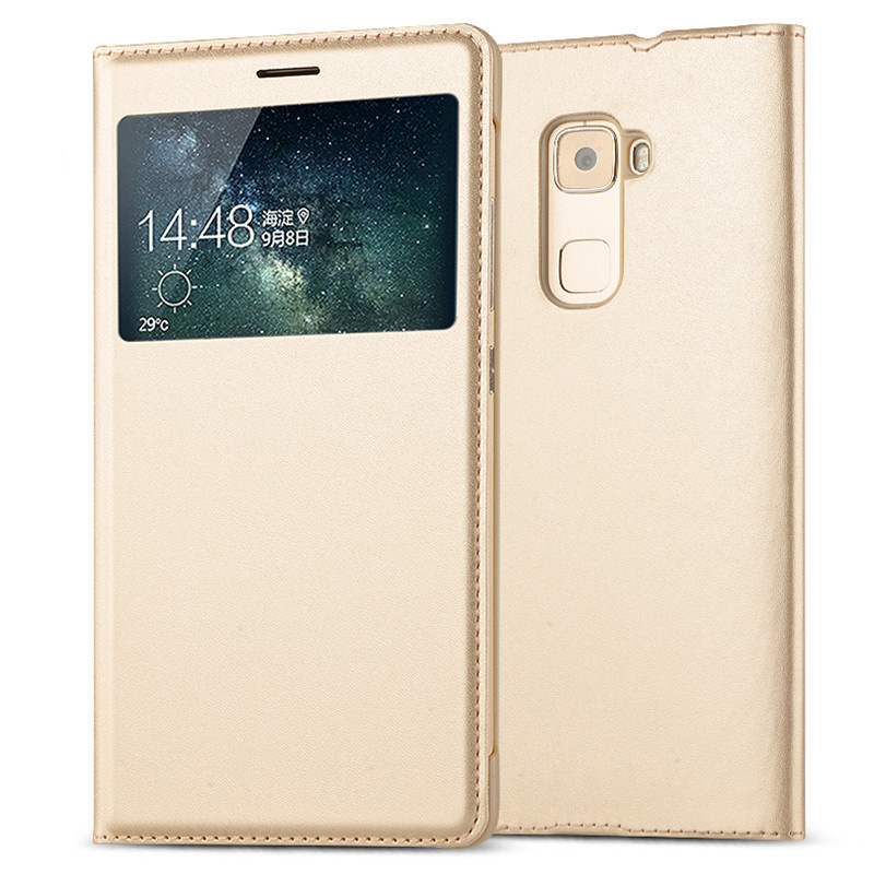 Case For Huawei Mate S Cover View Luxury Window Flip Wallet Cover For Huawei Mate S PU Leather Case Huawei Mate S Mates