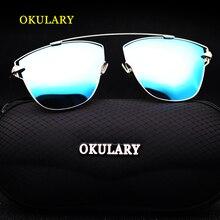 2020 frauen Polarisierte Sonnenbrille Blau/Rosa/Silber Objektiv UV400 Metall Rahmen Dame Sonnenbrille Mit Box