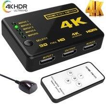 HDMI коммутатор 5×1 4 K * 2 K HD 1080 P hdmi видео адаптер с центром ИК-пульт для HD ТВ DVD ТВ коробка PS3