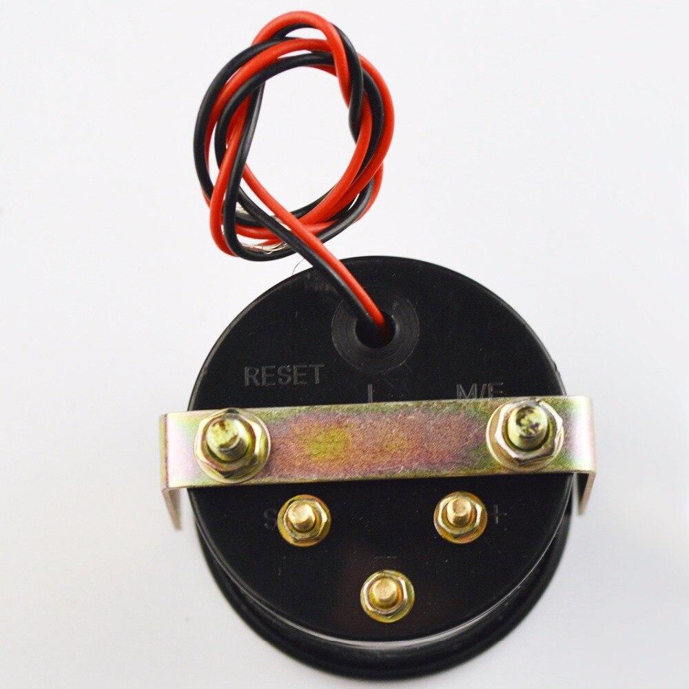 Dragon Gauge 2 52mm Car Oil Press Meter Blue Light 0100 Psi Pressure Wiring Diagram With Sensor Black Shell 12v In Gauges From Automobiles