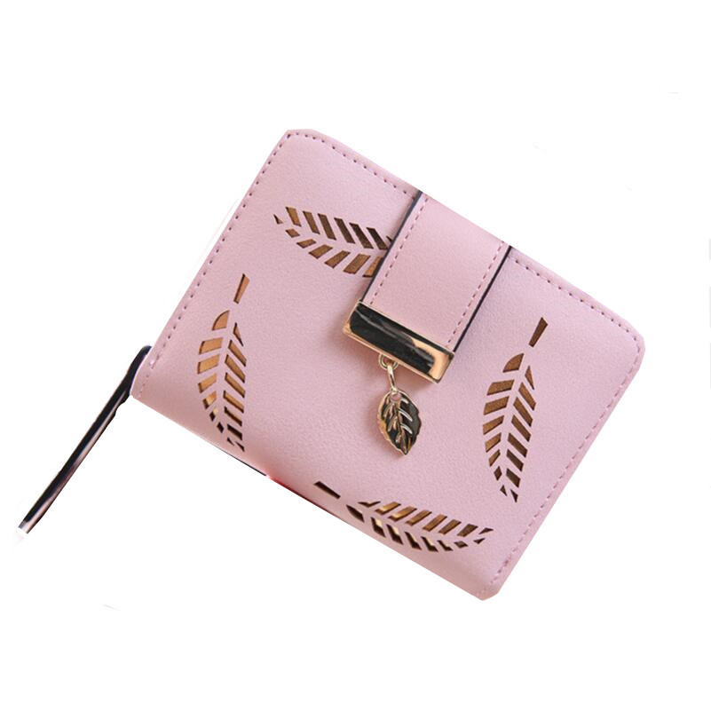 new 2017 pink hollow leaf short wallet women wallets small purse for girls credit id card holder money coin bag christmas gifts new 2017 pink hollow leaf short wallet women wallets small purse for girls credit id card holder money coin bag christmas gifts