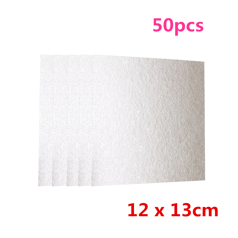 50pcs Mica Plates Sheets Microwave Oven Replacement Part for Midea 120x130mm Universal Home appliances Parts