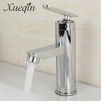 Xueqin Bathroom Single Handle Hole Hot Cold Water Mixer Taps Wash Basin Bathroom Kitchen Deck Mounted