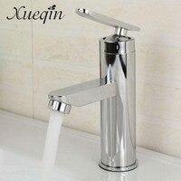 Xueqin Bathroom Single Handle Hole Hot Cold Water Mixer Taps Wash Basin Bathroom Kitchen Deck Mounted