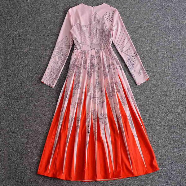 Gara kleita Jauns augstas kvalitātes skrejceļš 2018 pavasara - Sieviešu apģērbs - Foto 4