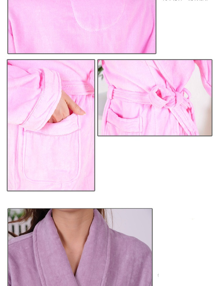 2015Winter hotsell pure cotton velour velvet bathrobes robe Unisex long-sleeve bathrobes thicken plus size home casual sleepwear