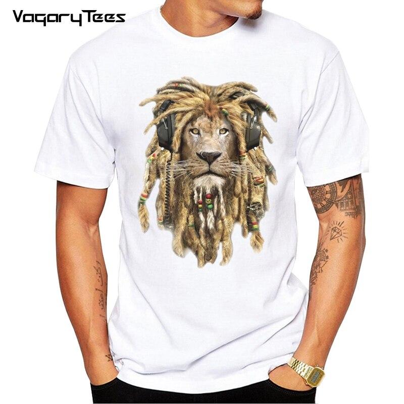 b0f039218 2019 Newest design Wild DJ Lion King Print T Shirt Funny Animal Rock T  Shirts Casual