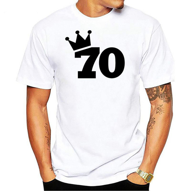 Summer Men 70th Birthday T Shirts Short Sleeve Cotton The First 70 Years Of Childhood Hardest Shirt Clothing Tops