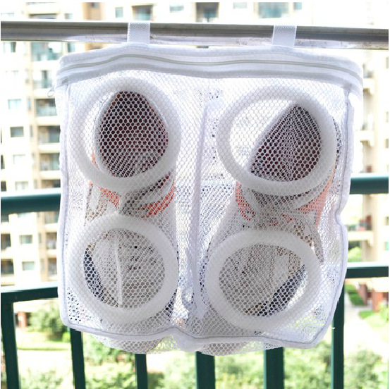 Best Selling Square Shoe Bag, Mesh Laundry Bags Dry Shoe Bag , Portable Shoe Bag (10 In * 3 In * 1 In)