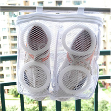 Best selling square shoe bag, mesh laundry bags dry bag , portable (10 in * 3 1 in)
