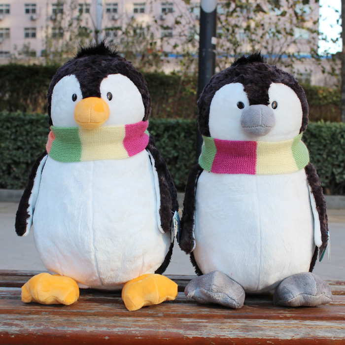 Plush toy stuffed doll NICI Ice guys winter scarf penguin couple lover Christmas Valentine's Day birthday gift 1pc free shipping 1pc 12cm kawaii lover couple valentine s day gift novelty mascot doll toy plush papa bear panda pendant for mobile phone charm
