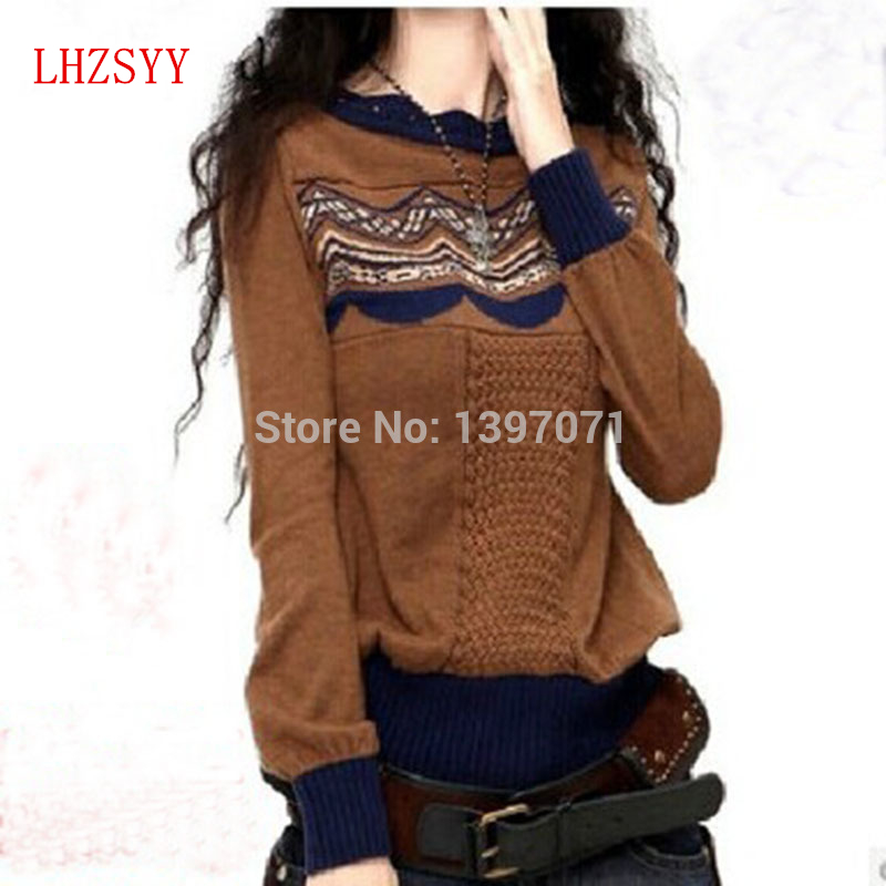 Últimas suéter de cachemira mezclado nuevo otoño y el invierno tejido de  cobertura suéter de lana de las mujeres nuevo diseño y estilo 069297e4c033
