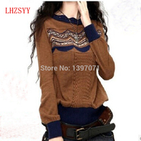 latest Blending Cashmere Sweater New Autumn And Winter Knitting hedging Women's Wool Sweater NEW Design and style