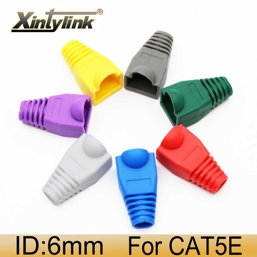 Cubierta de conector xintylink rj45, cat5e cat6 cat5, botas de red, cable ethernet rj 45 rg, funda cat 6 rg45, multicolor
