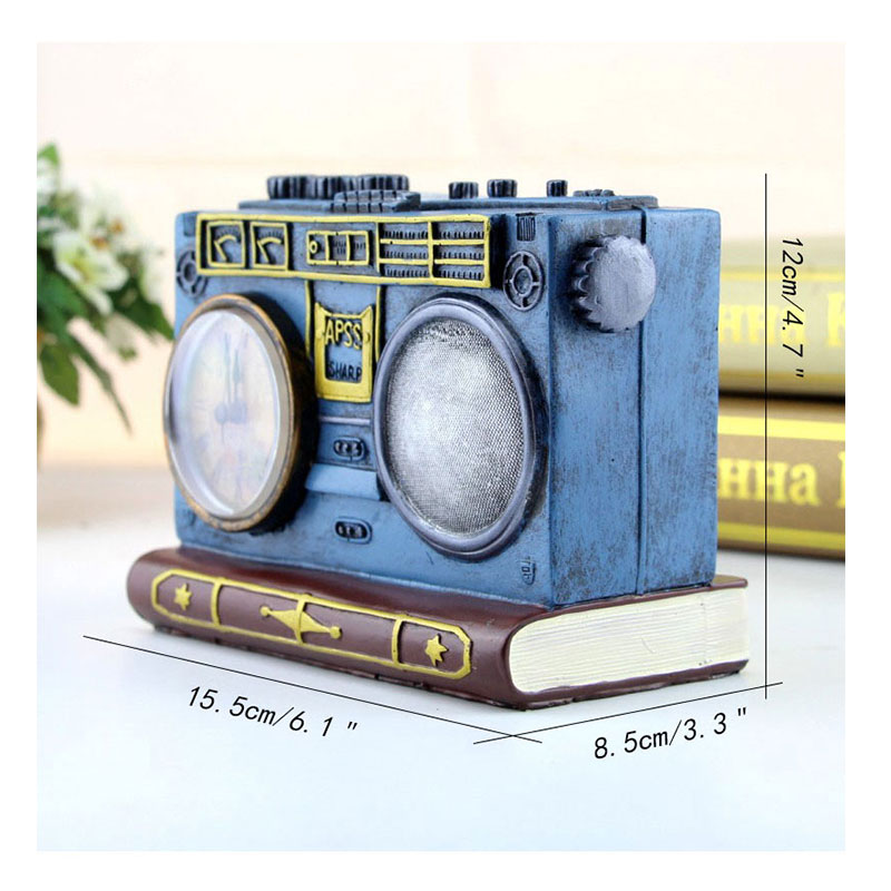 US $20 8 40% OFF Retro Home Decor Figurines European Old Radio Piggy Bank  Home Decoration Ornaments Resin Crafts Memorial Collection Fashion Gift-in