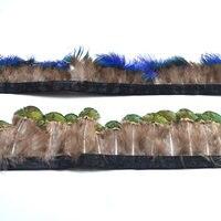 Оптовая продажа  натуральный Золотой Павлин  перо  отделка  бахрома для рукоделия  5-6 см  сделай сам  перо  ленты  швейная одежда  платье  аксес...