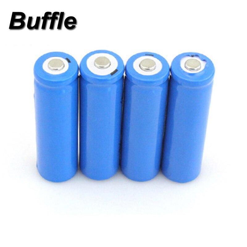 4pcs/Lot Real Capacity 750mAh 14500 Li-ion Lithium 3.7V AA Protected Rechargeable Batteries For Power Bank Camera Flashlight