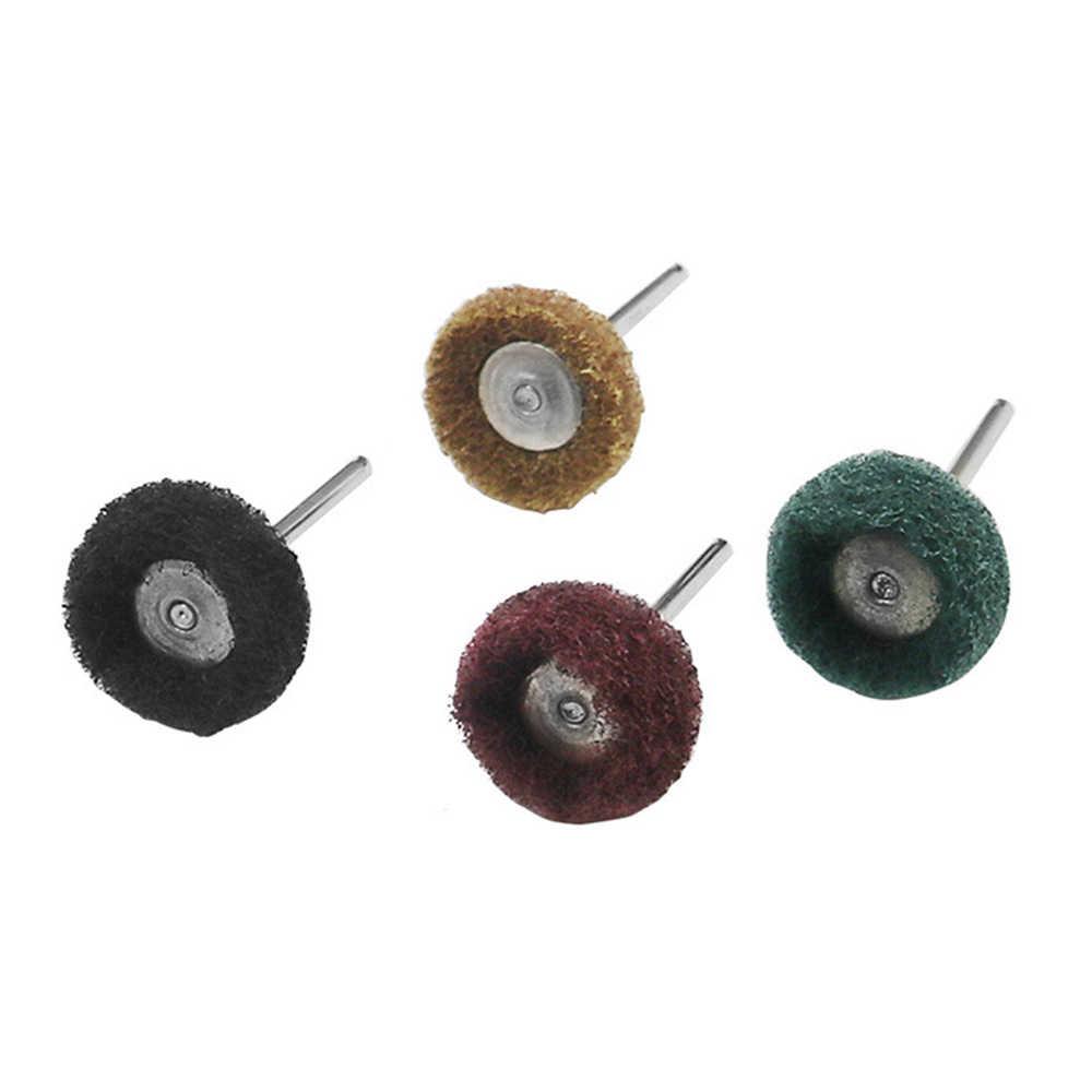 40 шт./компл. мини-кисточка Полировочная прокладка абразивное колесо нейлоновое волокно шлифовальная Шлифовальная головка полировка заусенцев роторный инструмент полировочное колесо
