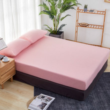 Fitted Sheet 90x190cm/160x200cm/180x200cm Bed covers Single Double bed Solid Color mattress covers Customizable bedspread(China)