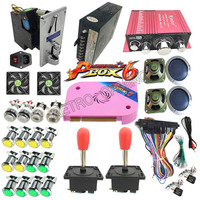Full kit with Pandora's Box 6 PCB 1300 in 1 Jamma power supply coin mech joystick LED button for DIY Arcade Game Cabinet Machine