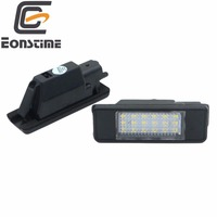 2 יחידות LED הלבן אור לוחית רישוי אחורית במכונית לפיג 'ו 106 1007 207 307 308 3008 406 407 508 806 סיטרואן C2 C3 C4 C5 C6 DS3