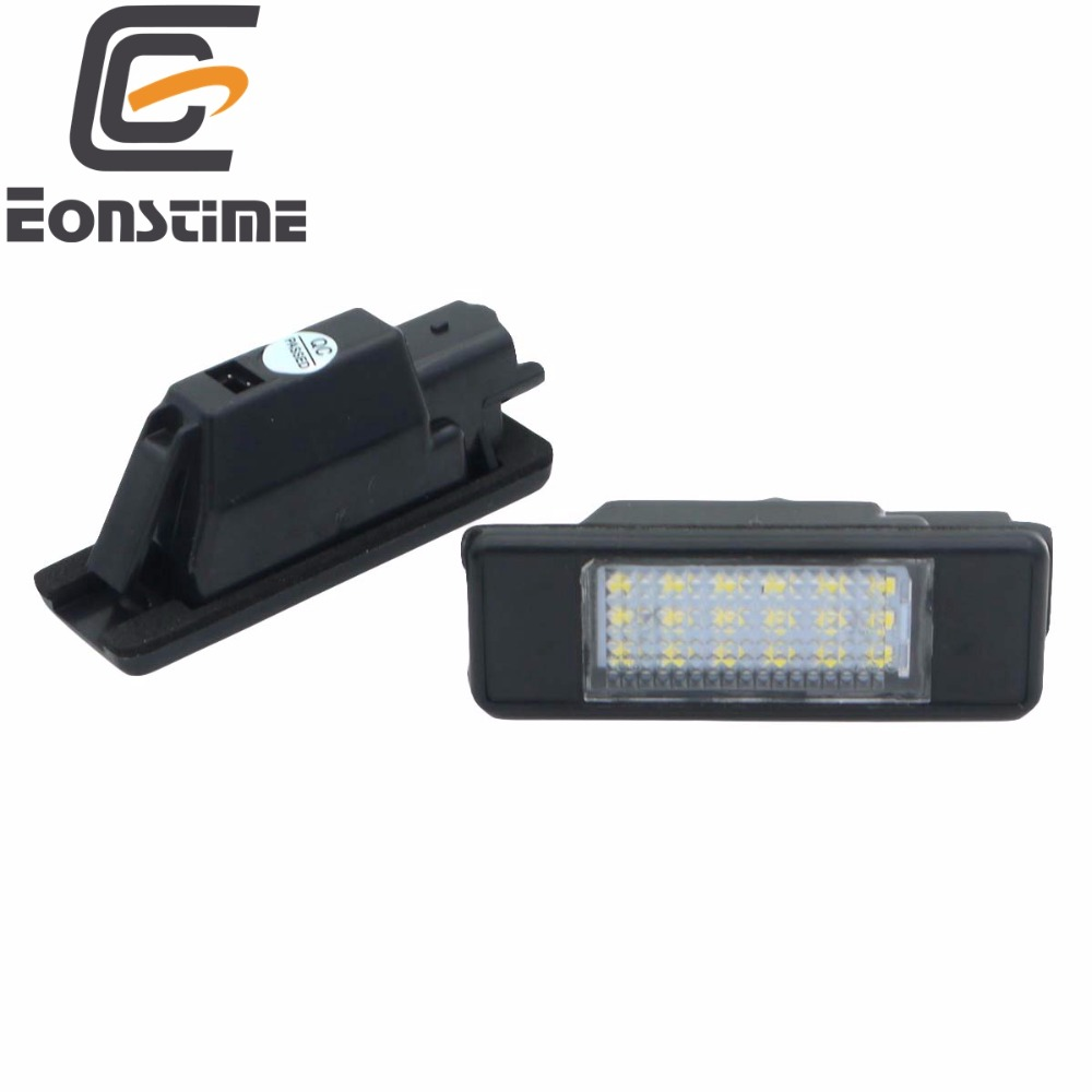 2pcs White LED Car Rear License Plate Light for Peugeot 106 1007 207 307 308 3008 406 407 508 806 CITROEN C2 C3 C4 C5 C6 DS3