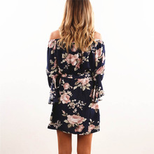 Women's Floral Printed Sexy Party Dress