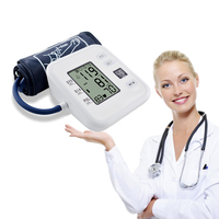 Household LCD Digital Upper Arm Blood Pressure Monitor Heartbeat Pulse Meter Machine Tonometer for Measuring Automatic Manometer