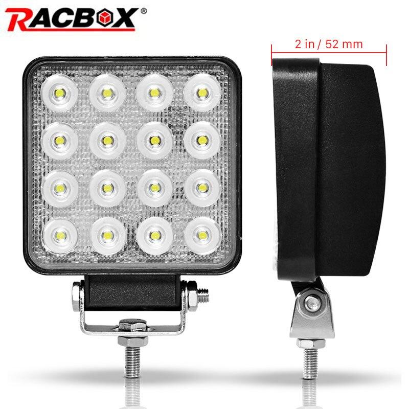 Licht & Beleuchtung 2 Stücke 48 Watt 6000 Karat Led Arbeit Licht Bar Für Jeep Atv Uaz Traktor Suv Lkw 4wd 12 V 24 V