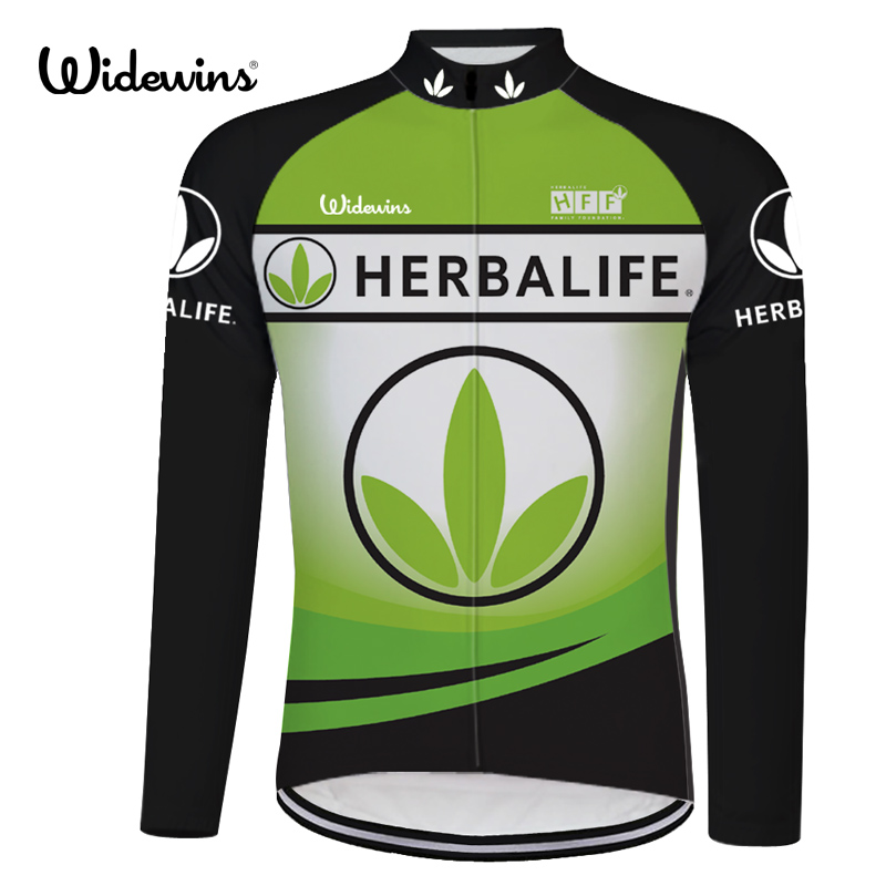 HERBALIFE cycling jersey long sleeve Breathable Bicycle Clothing Riding Clothes Outdoor Sports 8012