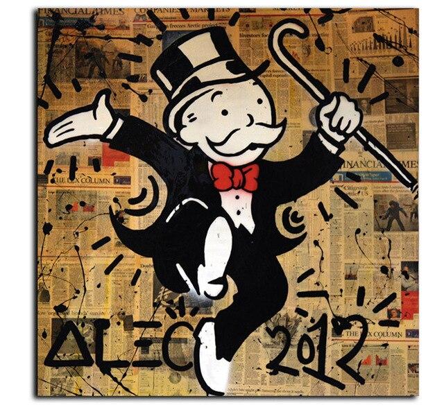 alec monopoly feliz hombre lienzo pintura de pared cuadros para la sala la decoracin del hogar