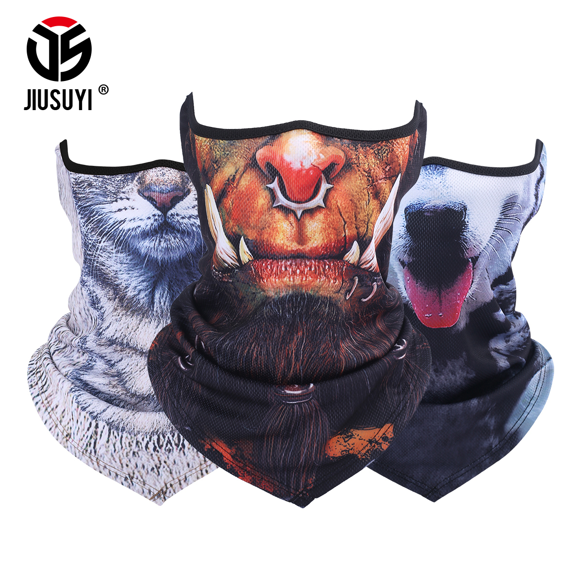 3D Animal Neck Gaiter Warmer Half Face Mask Tube Windproof ... - photo#46