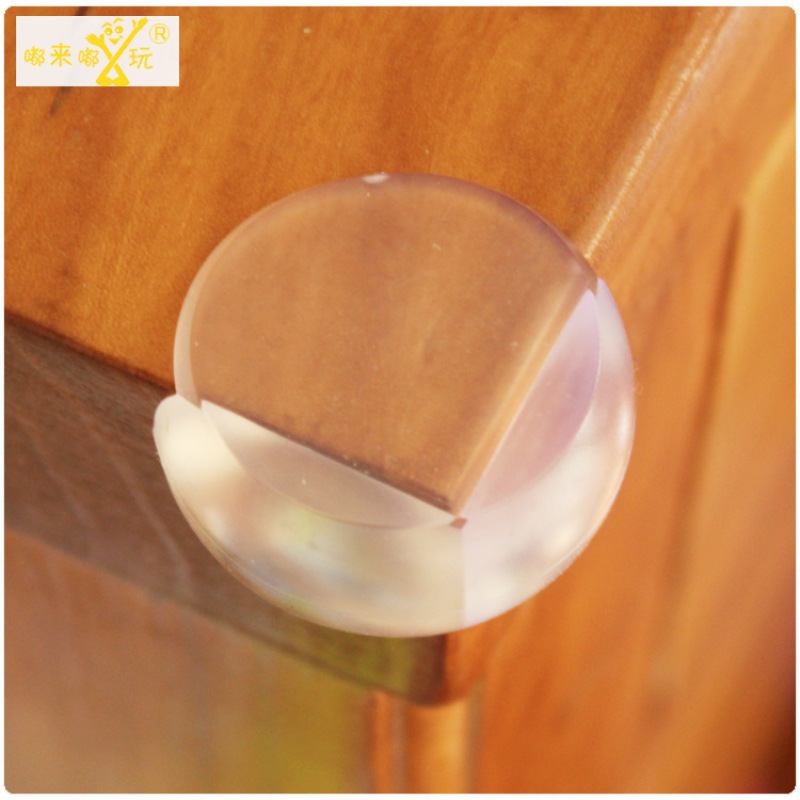 1Pcs Table Corner Baby Safety Products Imitation Silicone Anti-Collision Angle Transparent Corner Ball