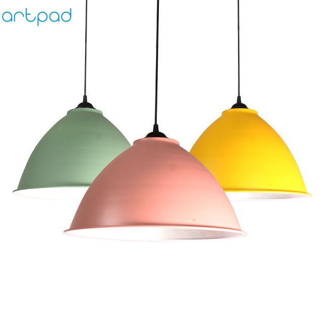Artpad Nordic Modern Industrial Pendant Lamp AC 110V-220V Aluminium Sconces Bar Pendant Light For Home Office E27 LED Lighting