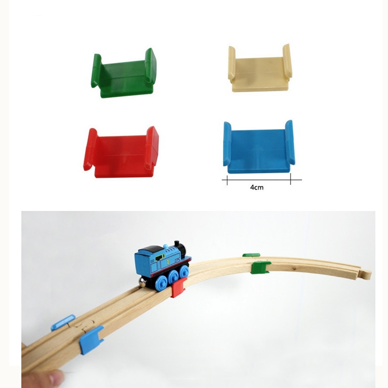 Train Track Accessories Wooden Railway Rail Fixing Clip - To Expand Snd Build Your Wooden Road Compatible With All Brands Track