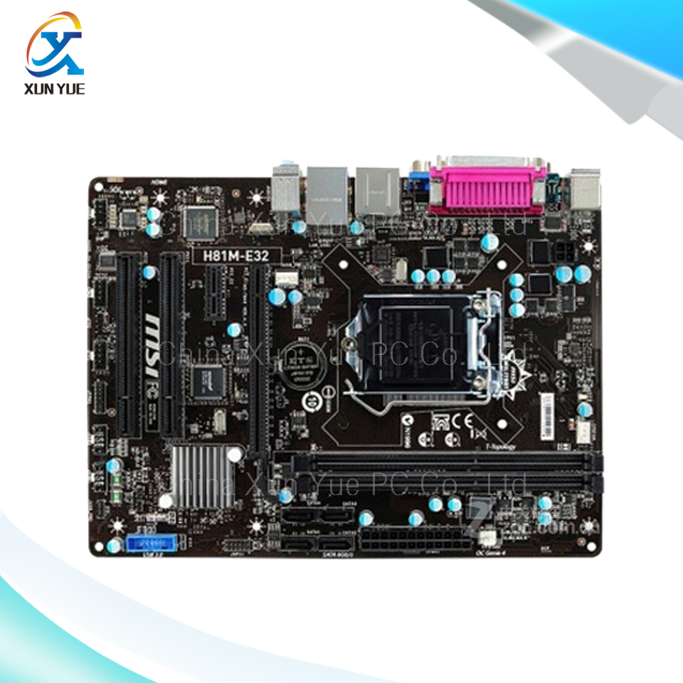 New asus h81m k motherboard cpu i3 i5 i7 lga1150 intel h81 ddr3 sata3 - For Msi H81m E32 Original Used Desktop Motherboard For Intel H81 Socket Lga 1150 For