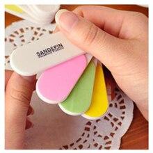 1 Set Hot Sale Colourful Mini Professional Nails Files Art Tools Sand Board Grit Finger Tips Manicure Pedicure Tools