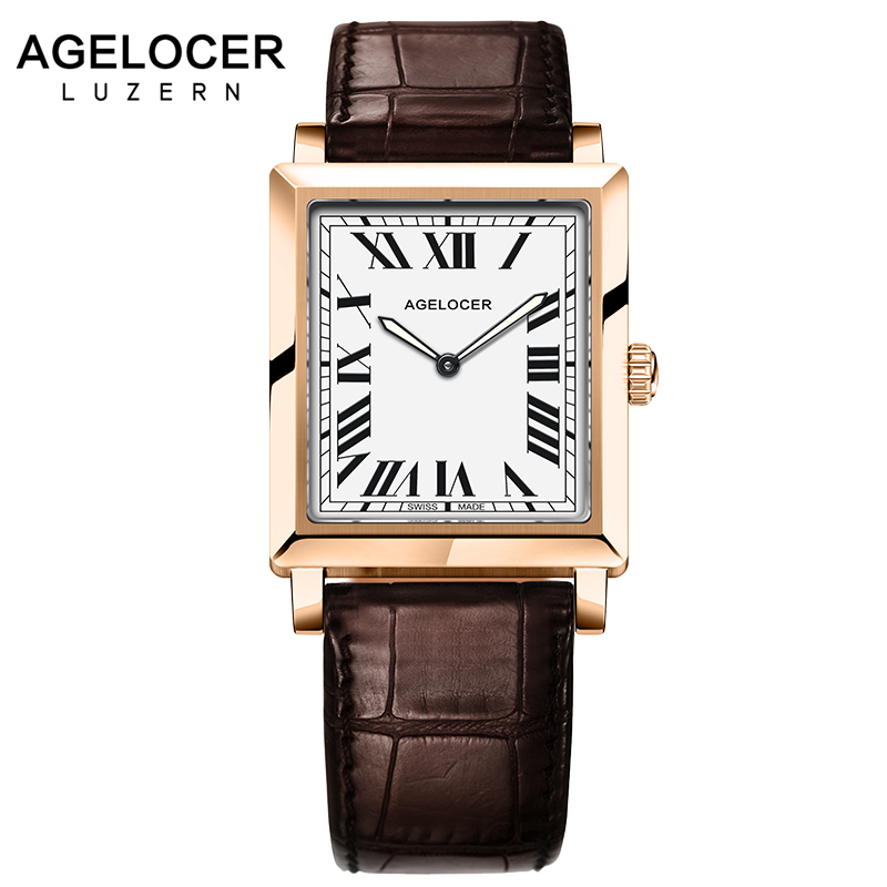 2017 Watches Women Clock Dress Watch Luxury Brand AGELOCER Women's Luxury Leather Quartz-watch Analog Ladies Wrist Watch Gifts