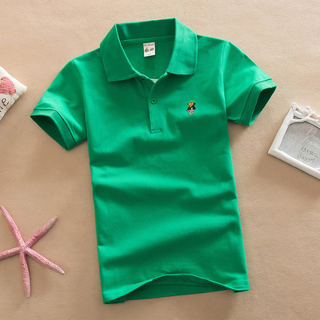 4c7cdd63f 2018 New Children Kids Polo Shirts Solid 2018 Short Sleeve Summer School  Uniforms Big Teens Boys Little Girls Cotton Lapel Tops