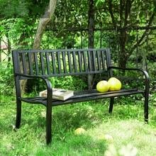 Дворовый Железный шезлонг открытый Балконный стул, двойной стул, парковый стул кресло для отдыха