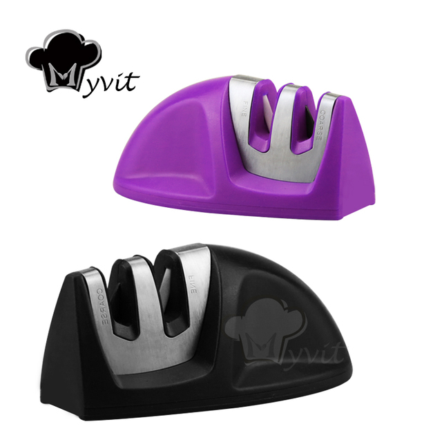 Knife Sharpener Whetstone Kitchen Knives Sharpening Stone Grindstone Grinder Stone Two Stages Diamond And Ceramic Household Tool 3