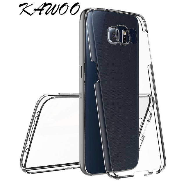 on sale ca822 cd562 US $1.16 35% OFF|Clear White 360 Degree Full Body Soft Rubber Case Cover  For Samsung Galaxy S9 Silicone Front & Back TPU Gel Capa For S9 Plus S6-in  ...